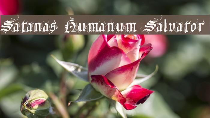 Satanas Humanum Salvator Font examples