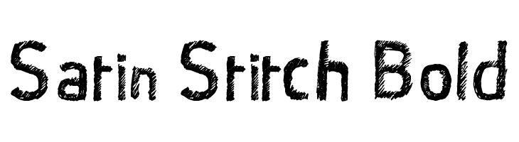 Satin Stitch Bold  Free Fonts Download