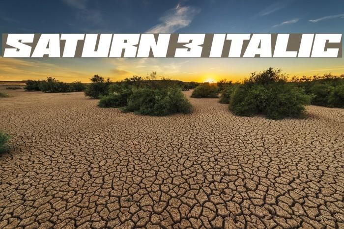 Saturn 3 Italic Font examples