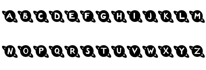 Saturn Font UPPERCASE