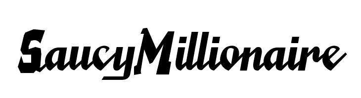 SaucyMillionaire  Free Fonts Download