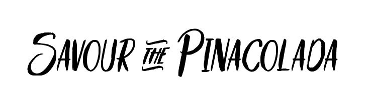 Savour&Pinacolada Schriftart