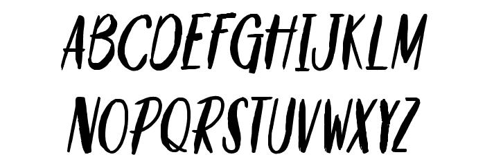 Savour&Pinacolada Schriftart Kleinbuchstaben