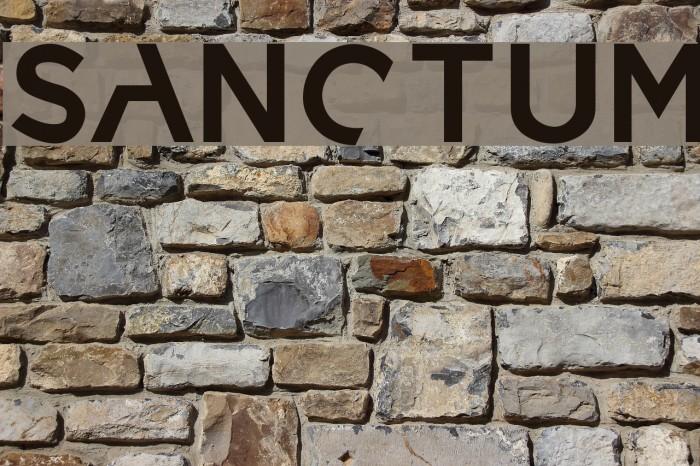 sanctum Font examples