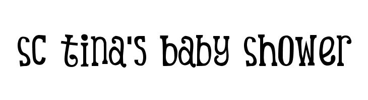 SC Tina's Baby Shower  les polices de caractères gratuit télécharger