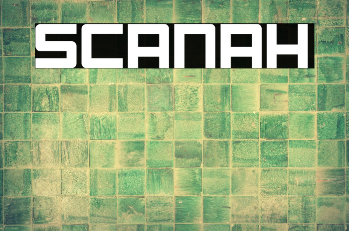 Scanah Fonte examples