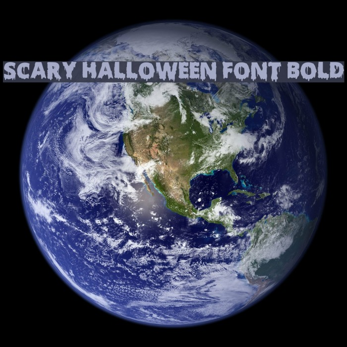 Scary Halloween Font Bold フォント examples
