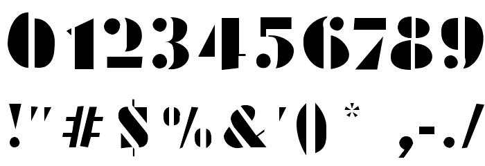 Schablonski-LessFat Шрифта ДРУГИЕ символов