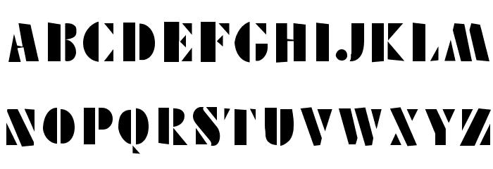 Schablonski-LessFat Шрифта ВЕРХНИЙ