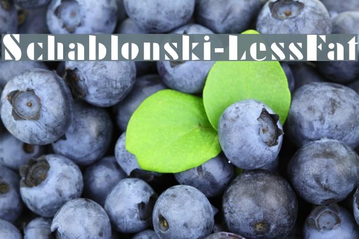 Schablonski-LessFat Шрифта examples
