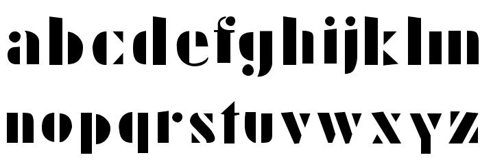 Schablonski-LessFat Шрифта строчной