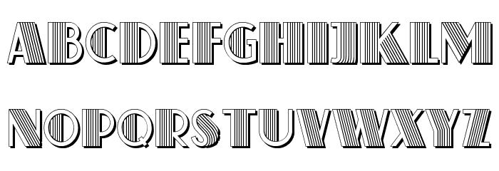 Schaeffer Font UPPERCASE