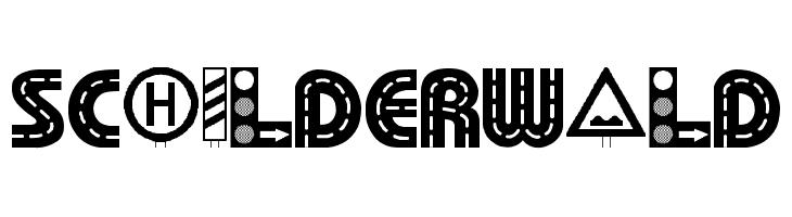 Schilderwald  नि: शुल्क फ़ॉन्ट्स डाउनलोड