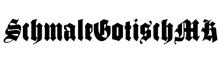 SchmaleGotischMK  les polices de caractères gratuit télécharger