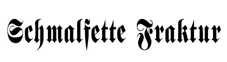 Schmalfette Fraktur  Free Fonts Download