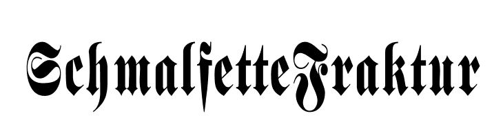 SchmalfetteFraktur  font caratteri gratis