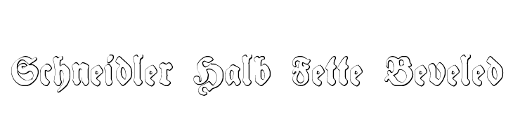 Schneidler Halb Fette Beveled  Free Fonts Download