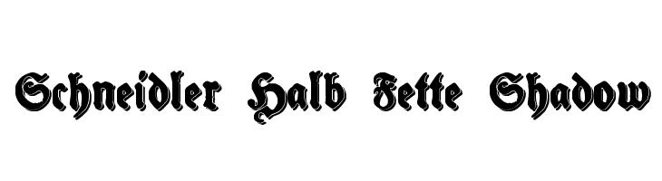 Schneidler Halb Fette Shadow  baixar fontes gratis