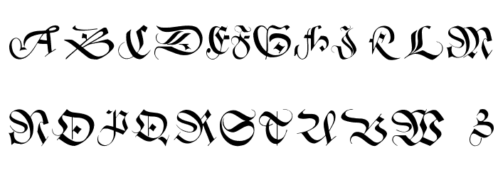 SchneidlerInitialen Font UPPERCASE