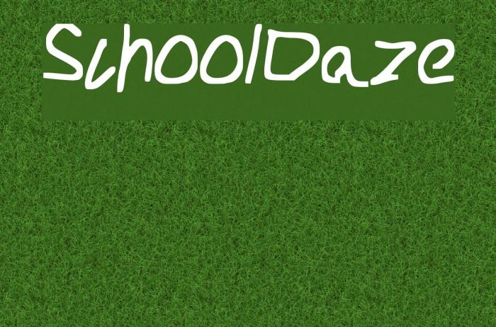School_Daze Caratteri examples
