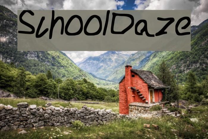 School_Daze Font examples