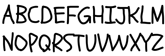 Schoolbell Font UPPERCASE