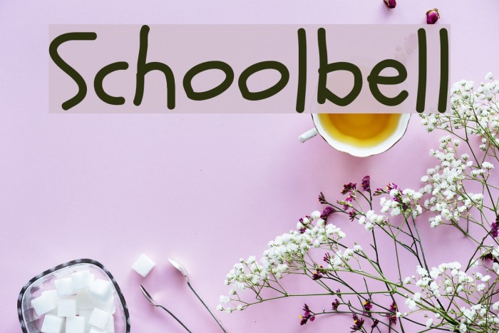 Schoolbell Font examples
