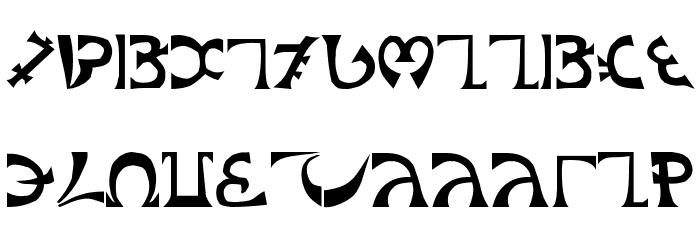 Schuelers-Enochian Font UPPERCASE
