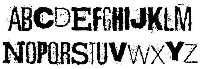 Scizzorwreck_HalbfettAlt Schriftart Kleinbuchstaben