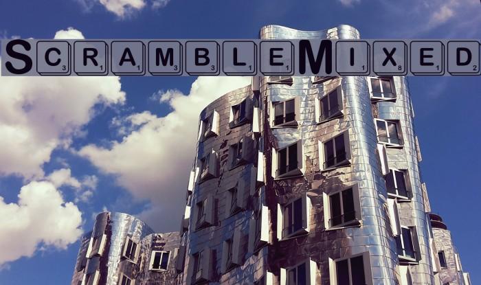 ScrambleMixed Шрифта examples