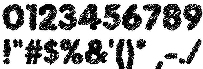 Scratch Bold Font OTHER CHARS