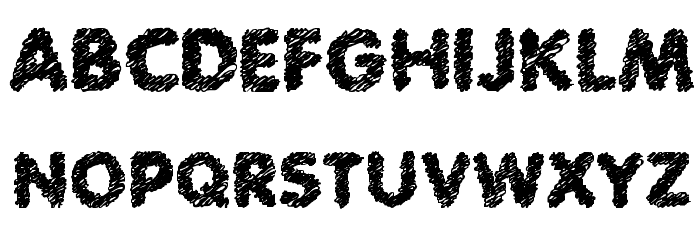 Scratch Bold Font UPPERCASE