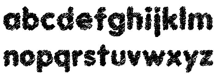 Scratch Bold Font LOWERCASE