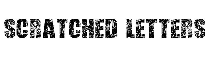 Scratched Letters  font caratteri gratis