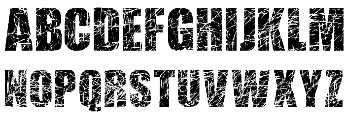 scratched letters font download