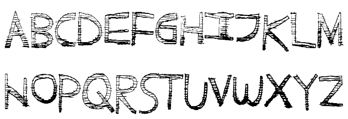 ScratchyFun Font LOWERCASE