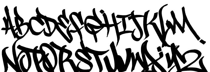 Scrawl3rd Font UPPERCASE
