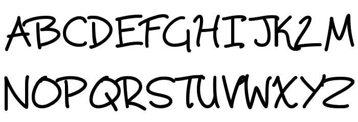 Scrawling Pad Schriftart Groß