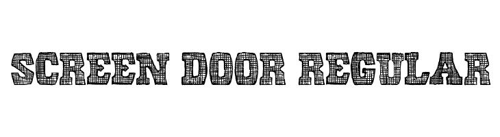 Screen Door Regular  Free Fonts Download