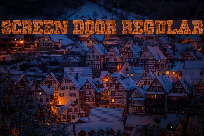 Screen Door Regular Font examples