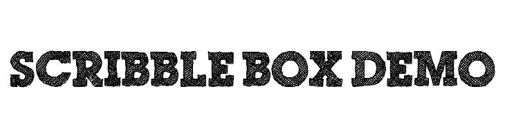 Scribble Box DEMO  Free Fonts Download