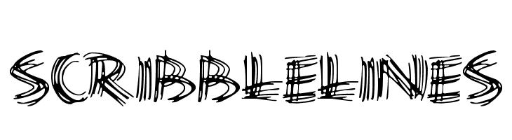 Scribble Lines  Frei Schriftart Herunterladen