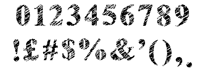 Scribble Serif Regular Font OTHER CHARS