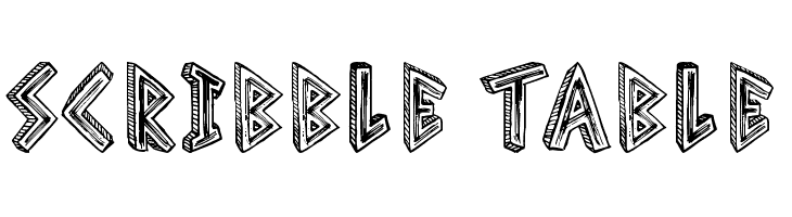 Scribble Table  Free Fonts Download