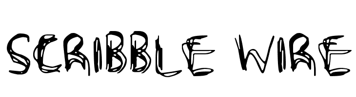 Scribble Wire  Free Fonts Download