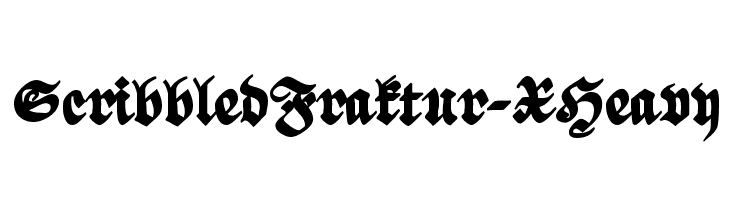 ScribbledFraktur-XHeavy  नि: शुल्क फ़ॉन्ट्स डाउनलोड