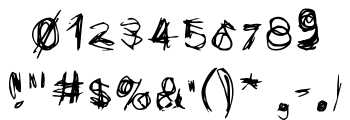 Scribblicious Font OTHER CHARS