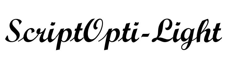 ScriptOpti-Light  Скачать бесплатные шрифты
