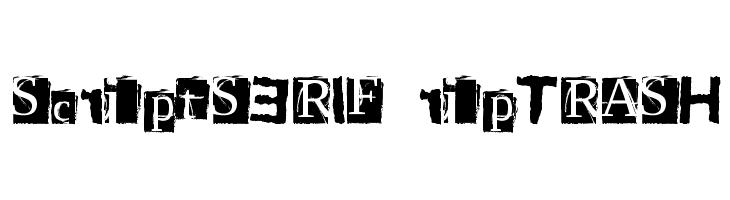 ScriptSERIF ripTRASH  baixar fontes gratis