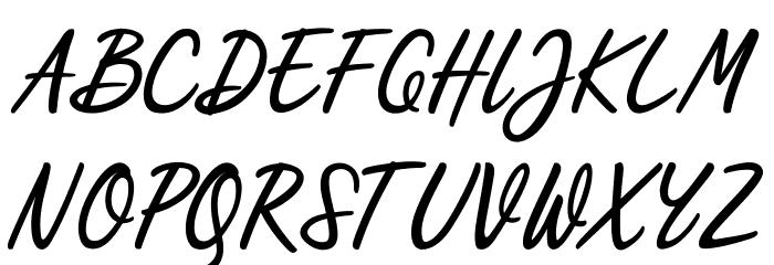 Scripterialism Font UPPERCASE